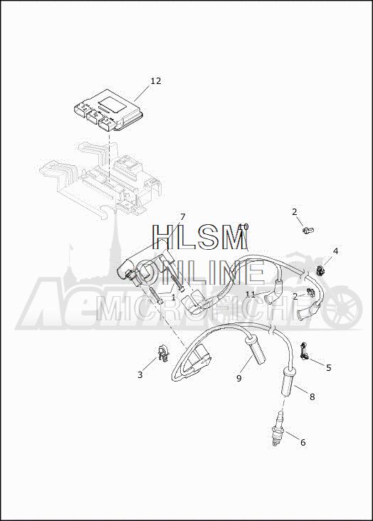 Запчасти для Мотоцикла Harley-Davidson 2019 FLHTCUTG TRI GLIDE ULTRA (MA) Раздел: ELECTRICAL - ELECTRONIC CONTROL MODULE W/COIL ASSEMBLY   электрика электронный управление модуль вместе с катушка в сборе