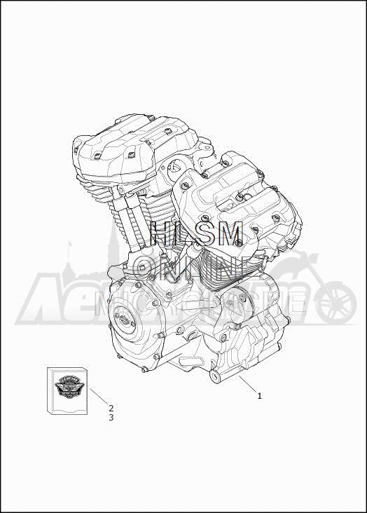 Запчасти для Мотоцикла Harley-Davidson 2019 FLHTCUTG TRI GLIDE ULTRA (MA) Раздел: ENGINE ASSEMBLY | двигатель в сборе