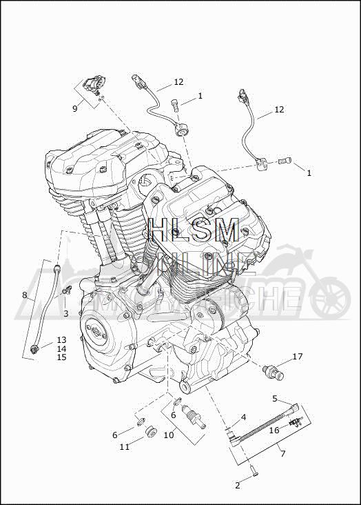 Запчасти для Мотоцикла Harley-Davidson 2019 FLHTCUTG TRI GLIDE ULTRA (MA) Раздел: ENGINE SENSORS W/SWITCHES | двигатель датчики вместе с выключатели, переключатели