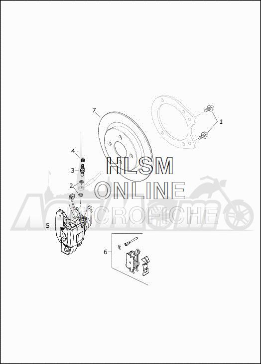 Запчасти для Мотоцикла Harley-Davidson 2019 FLHTCUTG TRI GLIDE ULTRA (MA) Раздел: BRAKE - REAR BRAKE CALIPER ASSEMBLY | задний тормоз тормозной суппорт в сборе