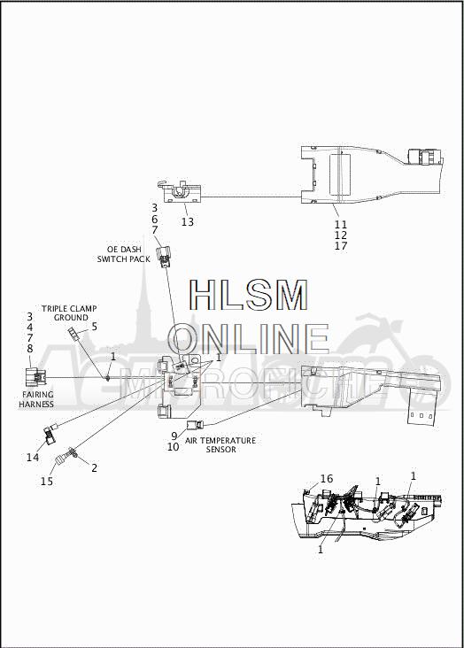 Запчасти для Мотоцикла Harley-Davidson 2019 FLHTCUTG TRI GLIDE ULTRA (MA) Раздел: ELECTRICAL - MAIN WIRING HARNESS - 1 | электрика главный электропроводка коса 1