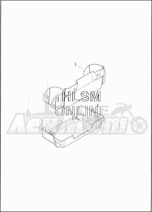 Запчасти для Мотоцикла Harley-Davidson 2019 FLHTCUTG TRI GLIDE ULTRA (MA) Раздел: TRUNK LINER | багажник LINER