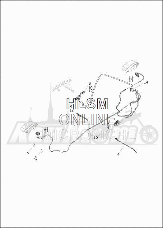 Запчасти для Мотоцикла Harley-Davidson 2019 FLHTCUTG TRI GLIDE ULTRA (MA) Раздел: WIRING HARNESS_TURN SIGNALS AND LIGHTS_REAR - DOMESTIC | электропроводка коса сигналы поворота и LIGHTS зад внутренний рынок