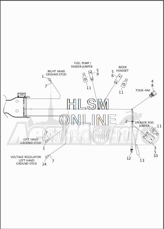 Запчасти для Мотоцикла Harley-Davidson 2019 FLHTK ULTRA LIMITED SHRINE (KN) Раздел: WIRING HARNESS_MAIN - ABS - 5 | электропроводка главный жгут ABS 5