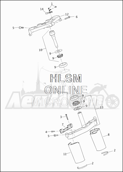 Запчасти для Мотоцикла Harley-Davidson 2019 FLHTK ULTRA LIMITED SHRINE (KN) Раздел: SUSPENSION - FRONT FORK BRACKETS   передняя подвеска вилка кронштейны