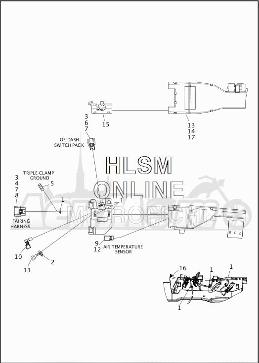 Запчасти для Мотоцикла Harley-Davidson 2019 FLHTKL ULTRA LIMITED LOW (KK) Раздел: WIRING HARNESS_MAIN - ABS - 1 | электропроводка главный жгут ABS 1