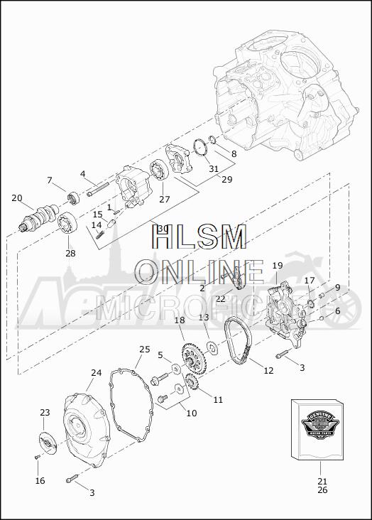 Запчасти для Мотоцикла Harley-Davidson 2019 FLHTKL ULTRA LIMITED LOW (KK) Раздел: CAMSHAFTS W/CAMSHAFT COVER | распредвалы вместе с распредвал крышка