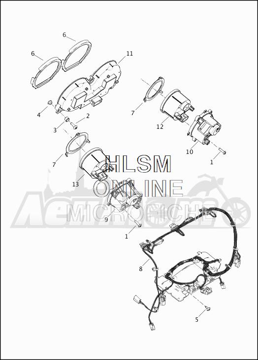 Запчасти для Мотоцикла Harley-Davidson 2019 FLHTKL ULTRA LIMITED LOW (KK) Раздел: FUEL TANK - INSTRUMENTS | топливный бак приборы