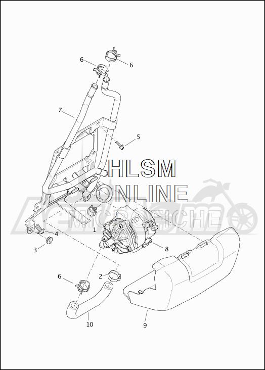 Запчасти для Мотоцикла Harley-Davidson 2019 FLHTKSE CVO LIMITED MILWAUKEE EIGHT (TE) Раздел: COOLANT - PUMP/HOSES | охлаждающая жидкость насос/шланги