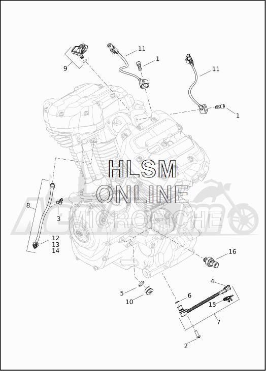 Запчасти для Мотоцикла Harley-Davidson 2019 FLHTKSE CVO LIMITED MILWAUKEE EIGHT (TE) Раздел: ELECTRICAL - ENGINE SENSORS W/SWITCHES | электрика двигатель датчики вместе с выключатели, переключатели