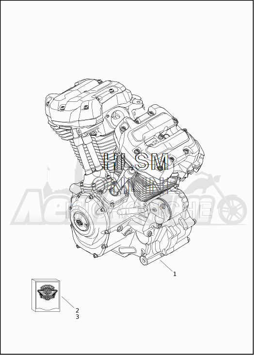Запчасти для Мотоцикла Harley-Davidson 2019 FLHTKSE CVO LIMITED MILWAUKEE EIGHT (TE) Раздел: ENGINE ASSEMBLY   двигатель в сборе