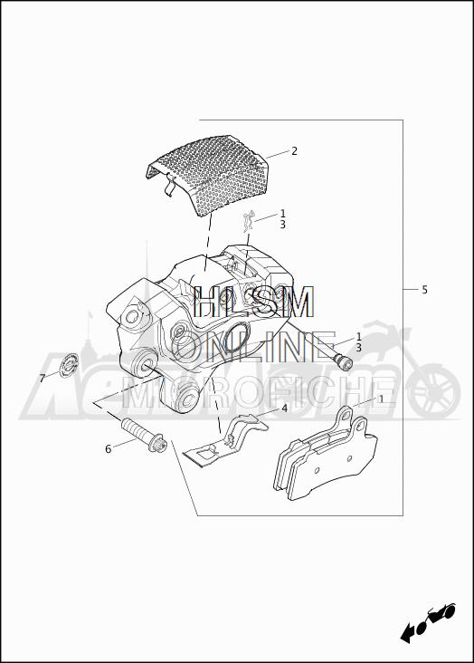 Запчасти для Мотоцикла Harley-Davidson 2019 FLHTKSE CVO LIMITED MILWAUKEE EIGHT (TE) Раздел: BRAKE - FRONT BRAKE CALIPER ASSEMBLY | передний тормоз тормозной суппорт в сборе