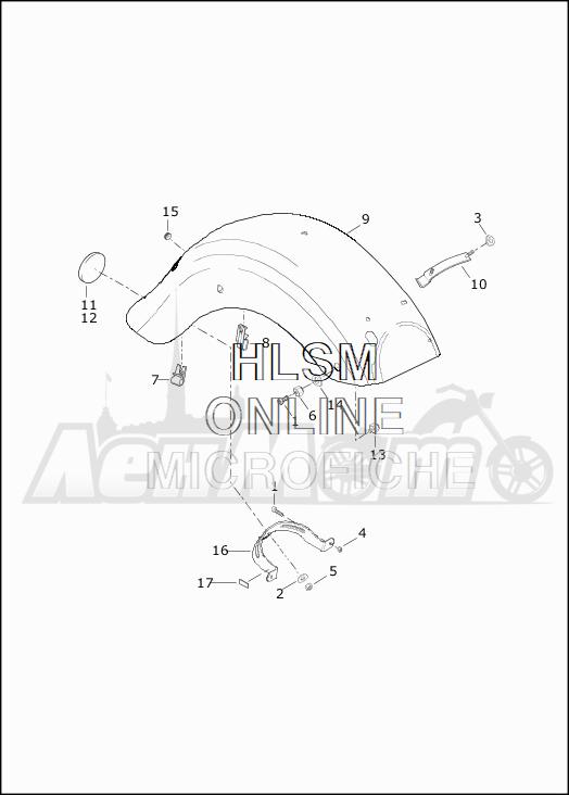 Запчасти для Мотоцикла Harley-Davidson 2019 FLHTKSE CVO LIMITED MILWAUKEE EIGHT (TE) Раздел: FENDER - REAR | заднее крыло