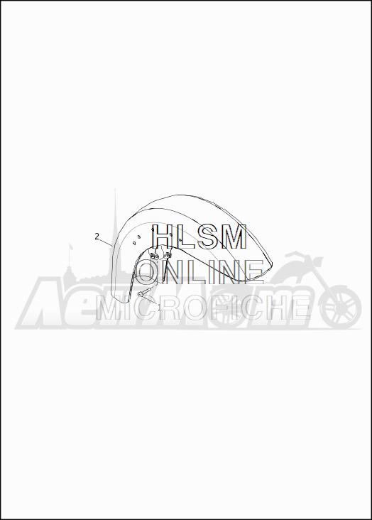 Запчасти для Мотоцикла Harley-Davidson 2019 FLHTKSE CVO LIMITED MILWAUKEE EIGHT (TE) Раздел: FENDERS - FRONT   крылья перед