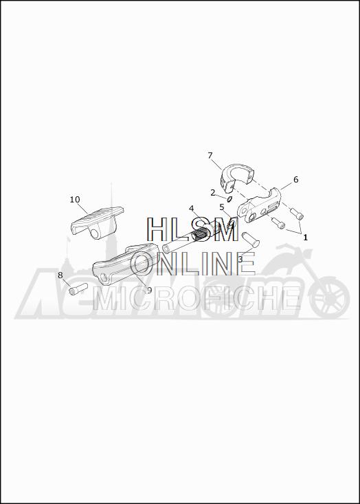 Запчасти для Мотоцикла Harley-Davidson 2019 FLHTKSE CVO LIMITED MILWAUKEE EIGHT (TE) Раздел: HIGHWAY PEGS | HIGHWAY PEGS