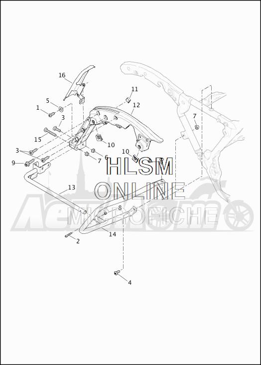 Запчасти для Мотоцикла Harley-Davidson 2019 FLHTKSE CVO LIMITED MILWAUKEE EIGHT (TE) Раздел: SADDLEBAG - GUARDS | седельная сумка защита