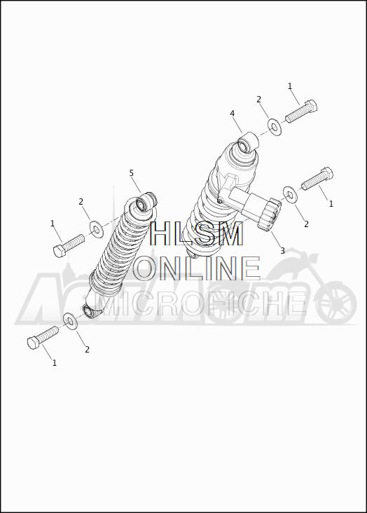 Запчасти для Мотоцикла Harley-Davidson 2019 FLHTKSE CVO LIMITED MILWAUKEE EIGHT (TE) Раздел: SUSPENSION - REAR SHOCK ABSORBERS | задняя подвеска амортизаторы