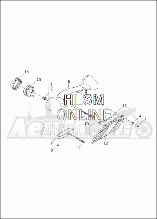 Запчасти для Мотоцикла Harley-Davidson 2019 FLHTKSE CVO LIMITED MILWAUKEE EIGHT (TE) Раздел: TURN SIGNALS - REAR W/LICENSE PLATE BRACKET | сигналы поворота зад вместе с площадка номерного знака опора, кронштейн