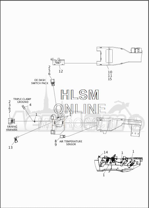 Запчасти для Мотоцикла Harley-Davidson 2019 FLHX STREET GLIDE (KB) Раздел: WIRING HARNESS_MAIN - NON ABS - 1 | электропроводка главный жгут не ABS 1