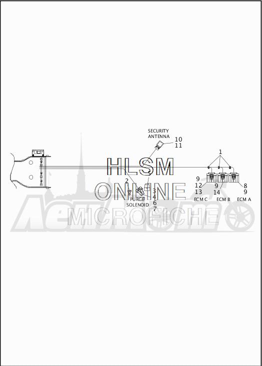 Запчасти для Мотоцикла Harley-Davidson 2019 FLHX STREET GLIDE (KB) Раздел: WIRING HARNESS_MAIN - NON-ABS - 4   электропроводка главный жгут не ABS 4