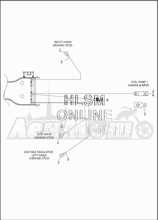 Запчасти для Мотоцикла Harley-Davidson 2019 FLHX STREET GLIDE (KB) Раздел: WIRING HARNESS_MAIN - NON-ABS - 5 | электропроводка главный жгут не ABS 5