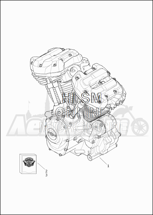 Запчасти для Мотоцикла Harley-Davidson 2019 FLHX STREET GLIDE (KB) Раздел: ENGINE ASSEMBLY | двигатель в сборе