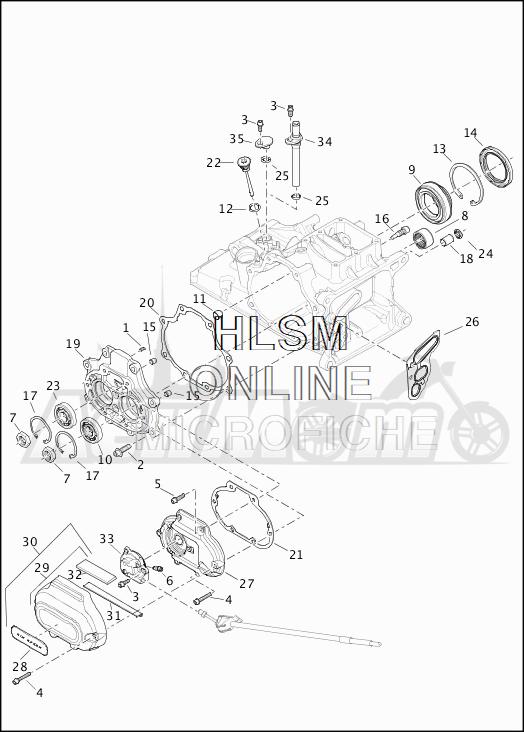 Запчасти для Мотоцикла Harley-Davidson 2019 FLHX STREET GLIDE (KB) Раздел: TRANSMISSION BEARINGS W/SIDE COVERS | трансмиссия подшипники вместе с боковые крышки