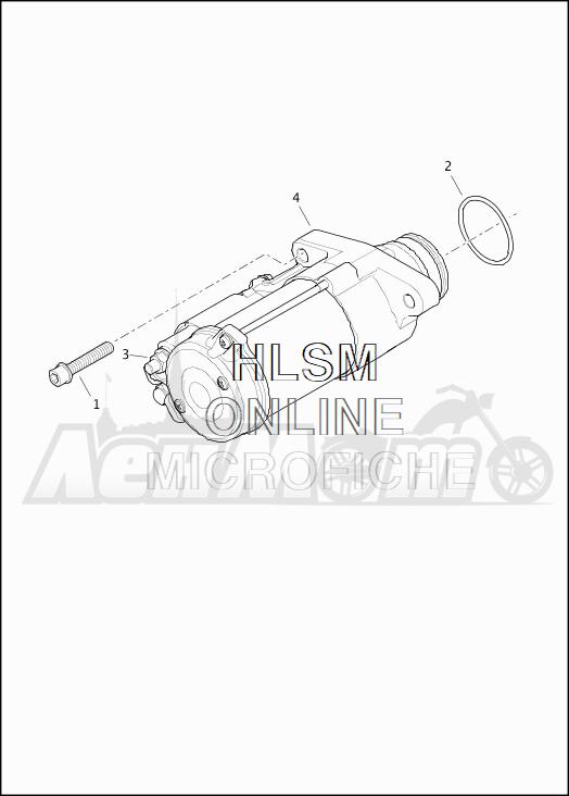 Запчасти для Мотоцикла Harley-Davidson 2019 FLHXS STREET GLIDE SPECIAL (KR) Раздел: ELECTRICAL - STARTER ASSEMBLY | электрика стартер в сборе