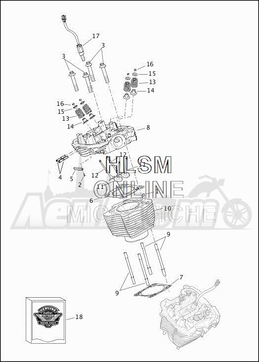 Запчасти для Мотоцикла Harley-Davidson 2019 FLHXSE CVO STREET GLIDE (PX) Раздел: CYLINDERS W/HEADS AND VALVES | цилиндры вместе с головки и клапаны