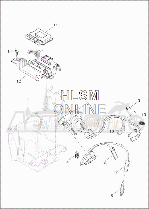 Запчасти для Мотоцикла Harley-Davidson 2019 FLHXSE CVO STREET GLIDE (PX) Раздел: ELECTRICAL - ELECTRONIC CONTROL MODULE W/COIL ASSEMBLY | электрика электронный управление модуль вместе с катушка в сборе