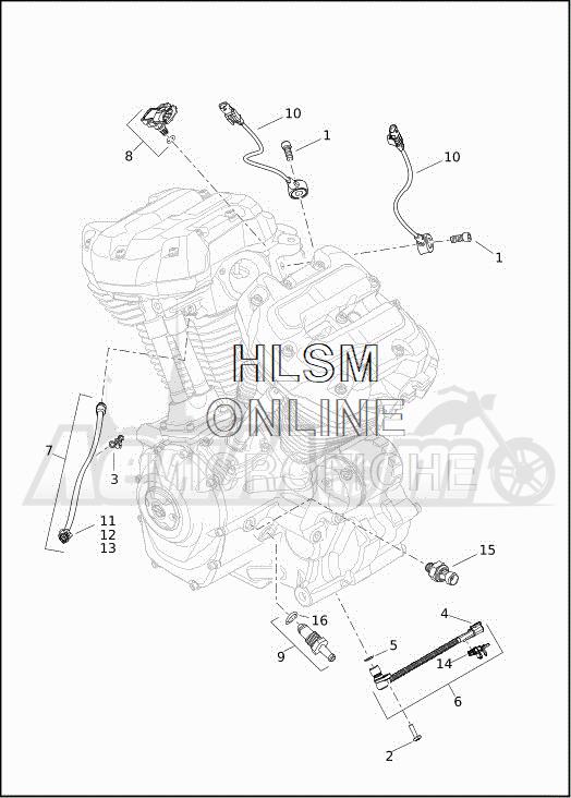 Запчасти для Мотоцикла Harley-Davidson 2019 FLHXSE CVO STREET GLIDE (PX) Раздел: ELECTRICAL - ENGINE SENSORS W/SWITCHES | электрика двигатель датчики вместе с выключатели, переключатели