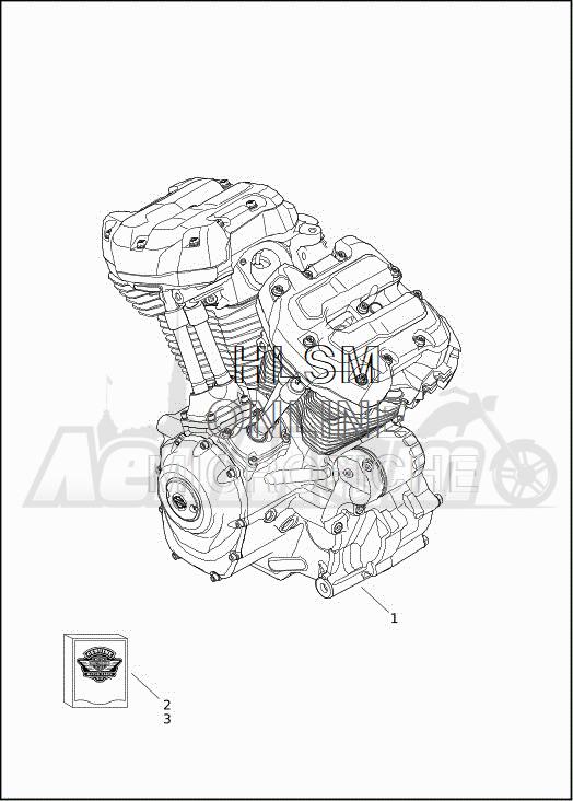 Запчасти для Мотоцикла Harley-Davidson 2019 FLHXSE CVO STREET GLIDE (PX) Раздел: ENGINE ASSEMBLY | двигатель в сборе