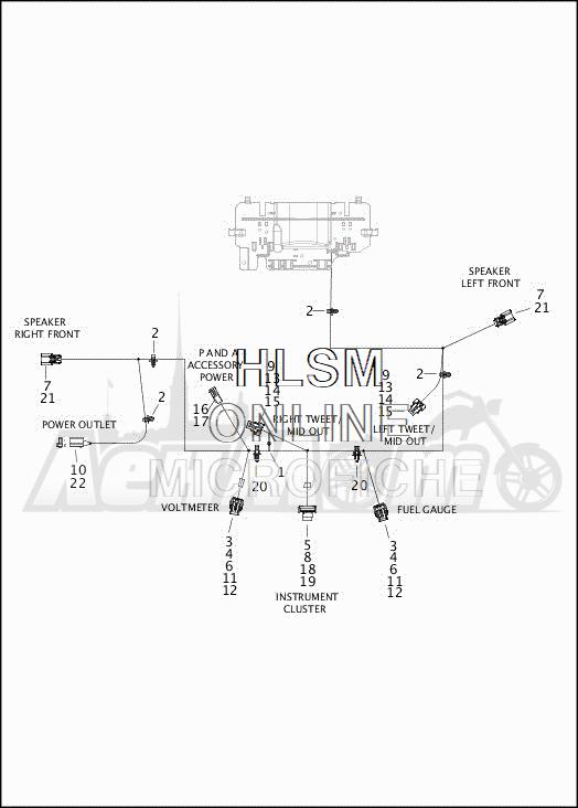 Запчасти для Мотоцикла Harley-Davidson 2019 FLHXSE CVO STREET GLIDE (PX) Раздел: ELECTRICAL - FAIRING WIRING HARNESS - 2 | электрика обтекатель электропроводка коса 2