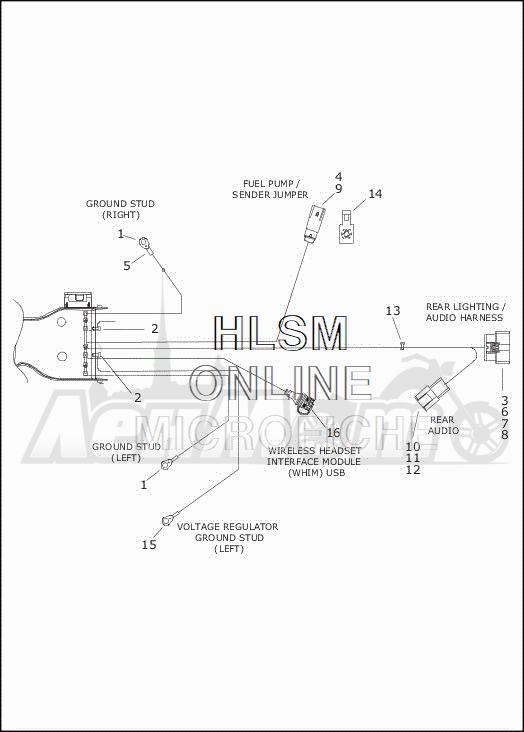 Запчасти для Мотоцикла Harley-Davidson 2019 FLHXSE CVO STREET GLIDE (PX) Раздел: ELECTRICAL - MAIN WIRING HARNESS - 5 | электрика главный электропроводка коса 5
