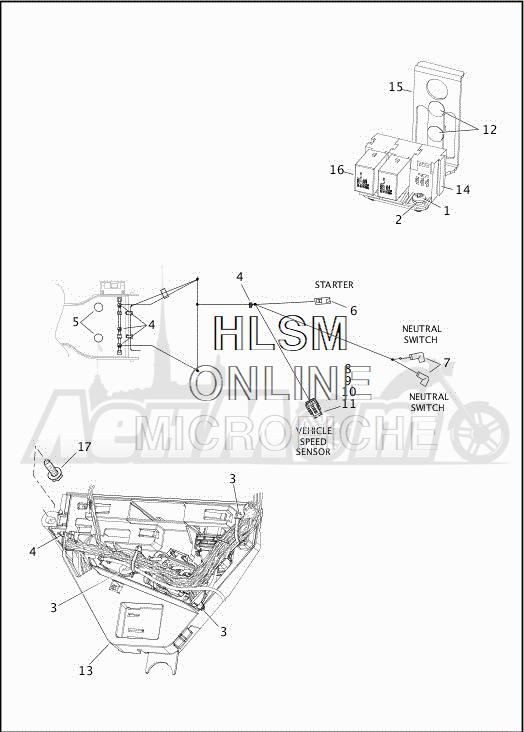 Запчасти для Мотоцикла Harley-Davidson 2019 FLHXSE CVO STREET GLIDE (PX) Раздел: ELECTRICAL - MAIN WIRING HARNESS - 6 | электрика главный электропроводка коса 6