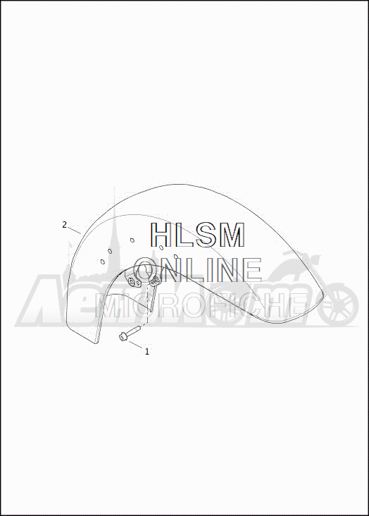 Запчасти для Мотоцикла Harley-Davidson 2019 FLHXSE CVO STREET GLIDE (PX) Раздел: FENDERS - FRONT | крылья перед