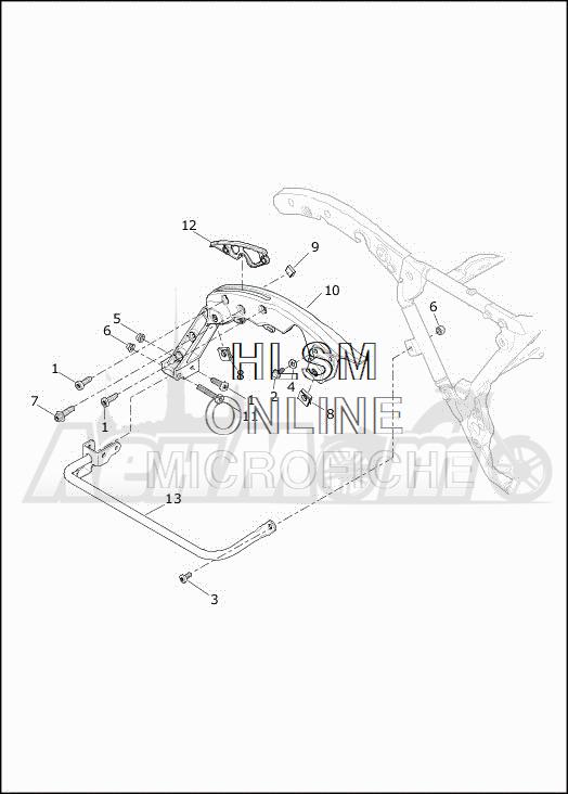 Запчасти для Мотоцикла Harley-Davidson 2019 FLHXSE CVO STREET GLIDE (PX) Раздел: SADDLEBAG - GUARDS | седельная сумка защита