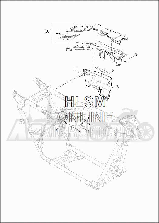 Запчасти для Мотоцикла Harley-Davidson 2019 FLHXSE CVO STREET GLIDE (PX) Раздел: SIDE COVERS W/AIR DEFLECTORS | боковые крышки вместе с воздух дефлекторы