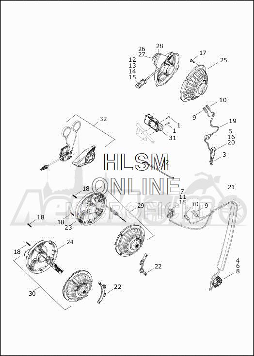 Запчасти для Мотоцикла Harley-Davidson 2019 FLHXSE CVO STREET GLIDE (PX) Раздел: SOUND SYSTEM - 1 | аудиосистема 1