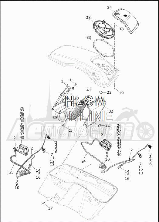 Запчасти для Мотоцикла Harley-Davidson 2019 FLHXSE CVO STREET GLIDE (PX) Раздел: SOUND SYSTEM - 2 | аудиосистема 2