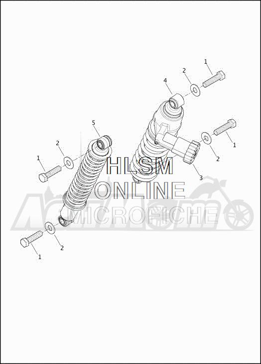 Запчасти для Мотоцикла Harley-Davidson 2019 FLHXSE CVO STREET GLIDE (PX) Раздел: SUSPENSION - REAR SHOCK ABSORBERS | задняя подвеска амортизаторы