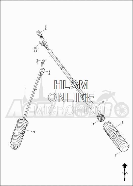 Запчасти для Мотоцикла Harley-Davidson 2019 FLHXSE CVO STREET GLIDE (PX) Раздел: THROTTLE CONTROL ASSEMBLY W/GRIPS | дроссель управление в сборе вместе с ручки
