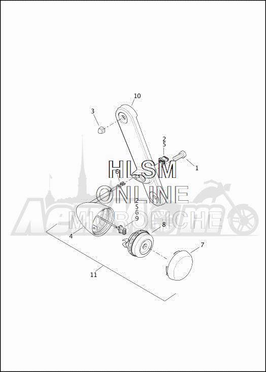 Запчасти для Мотоцикла Harley-Davidson 2019 FLHXSE CVO STREET GLIDE (PX) Раздел: TURN SIGNALS - FRONT | сигналы поворота перед