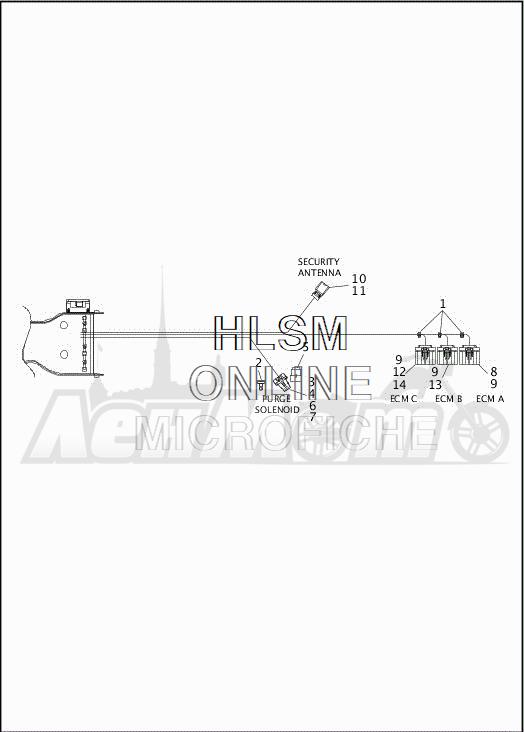 Запчасти для Мотоцикла Harley-Davidson 2019 FLRT FREEWHEELER (MC) Раздел: ELECTRICAL - MAIN WIRING HARNESS - 4 | электрика главный электропроводка коса 4