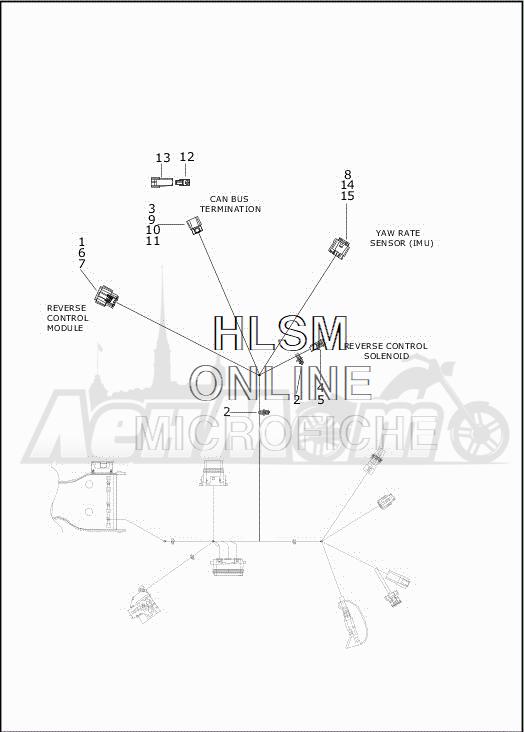 Запчасти для Мотоцикла Harley-Davidson 2019 FLRT FREEWHEELER (MC) Раздел: ELECTRICAL - MAIN WIRING HARNESS - 9 | электрика главный электропроводка коса 9