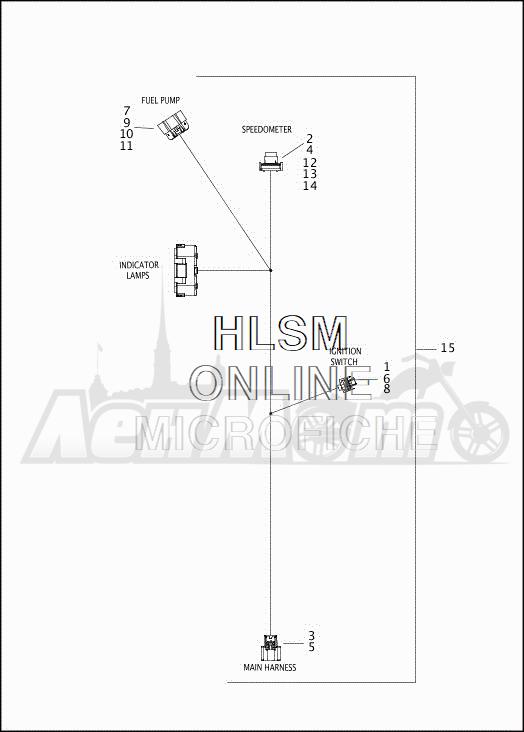 Запчасти для Мотоцикла Harley-Davidson 2019 FLRT FREEWHEELER (MC) Раздел: ELECTRICAL - WIRING HARNESS - CONSOLE | электрика электропроводка коса консоль
