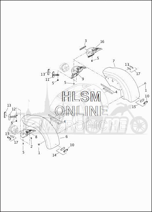 Запчасти для Мотоцикла Harley-Davidson 2019 FLRT FREEWHEELER (MC) Раздел: FENDER - REAR | заднее крыло