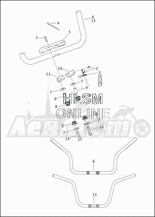 Запчасти для Мотоцикла Harley-Davidson 2019 FLRT FREEWHEELER (MC) Раздел: HANDLEBAR ASSEMBLY | руль в сборе