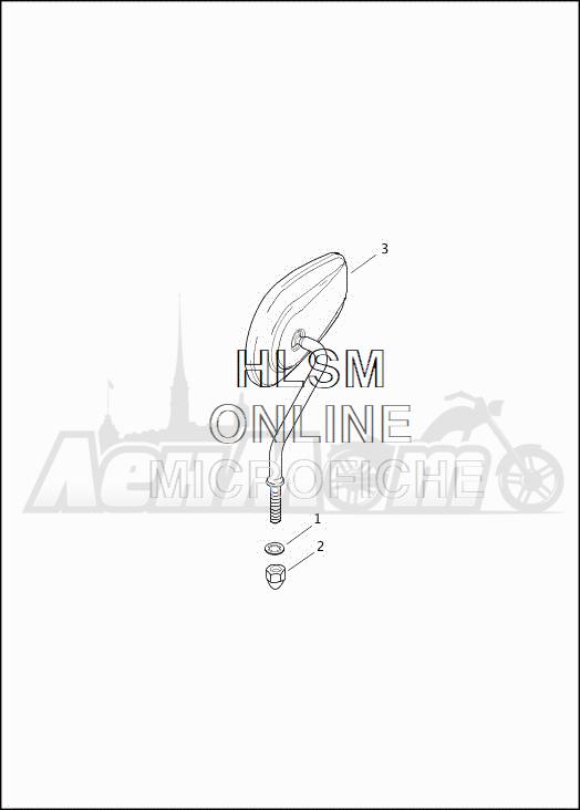 Запчасти для Мотоцикла Harley-Davidson 2019 FLRT FREEWHEELER (MC) Раздел: MIRROR ASSEMBLY | зеркало в сборе