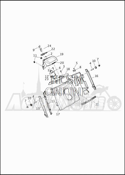 Запчасти для Мотоцикла Harley-Davidson 2019 FLRT FREEWHEELER (MC) Раздел: NACELLE | NACELLE